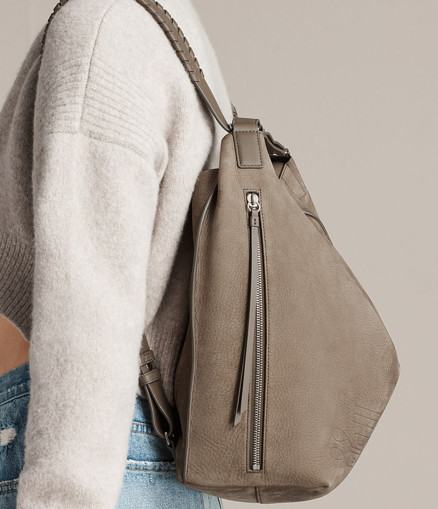 Women's Cooper Leather Backpack (ash_grey) - Image 2