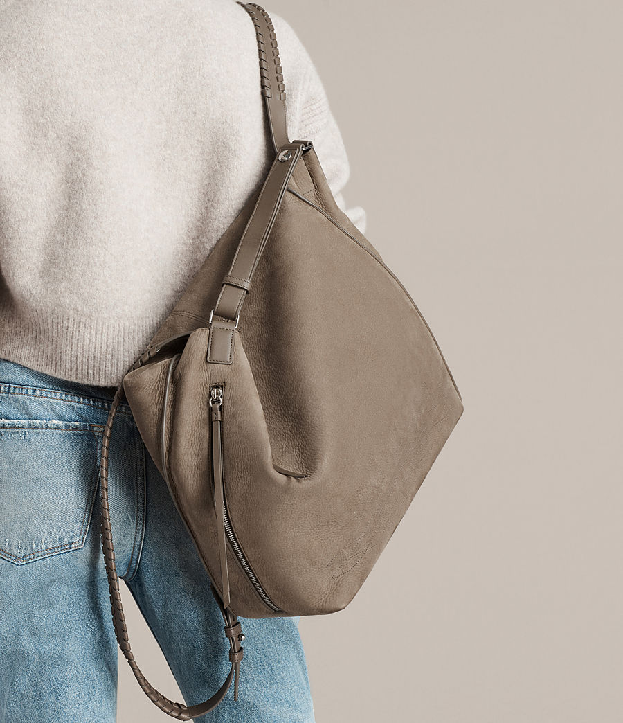 Women's Cooper Leather Backpack (ash_grey) - Image 3