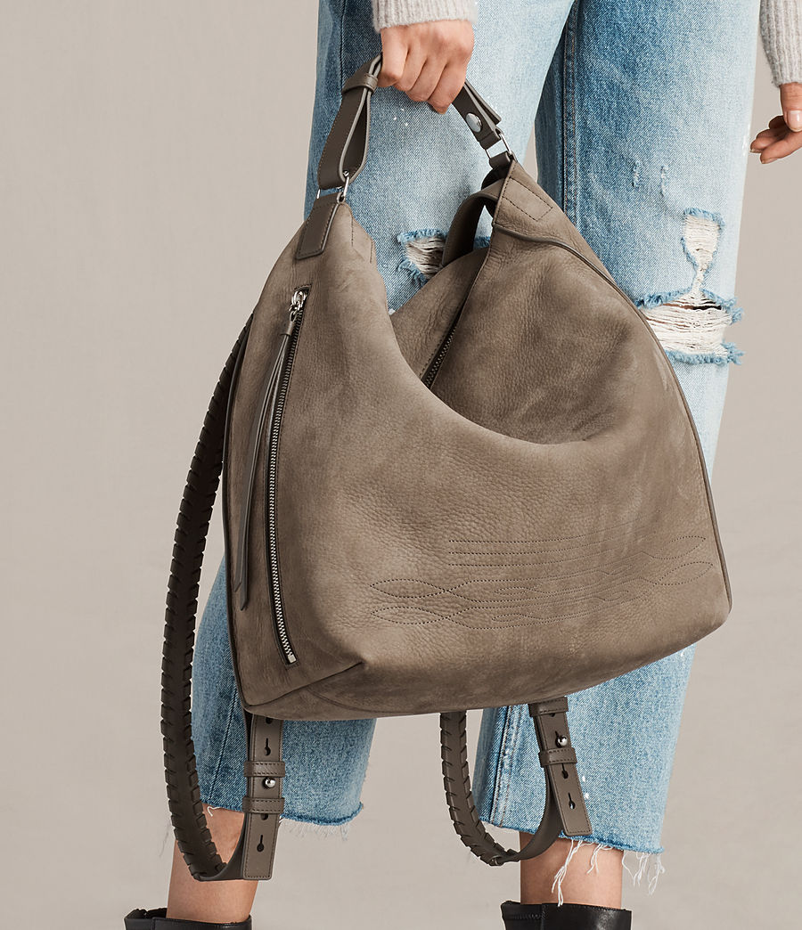 Women's Cooper Leather Backpack (ash_grey) - Image 4