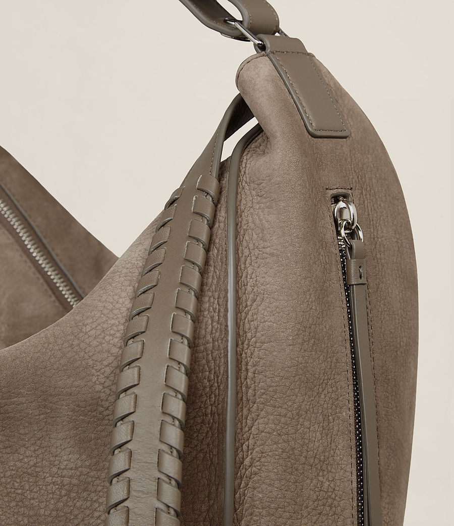 Women's Cooper Leather Backpack (ash_grey) - Image 5