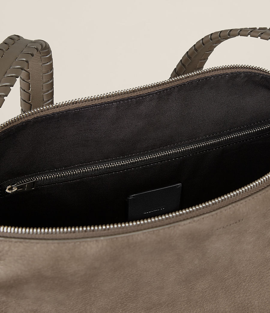 Women's Cooper Leather Backpack (ash_grey) - Image 6