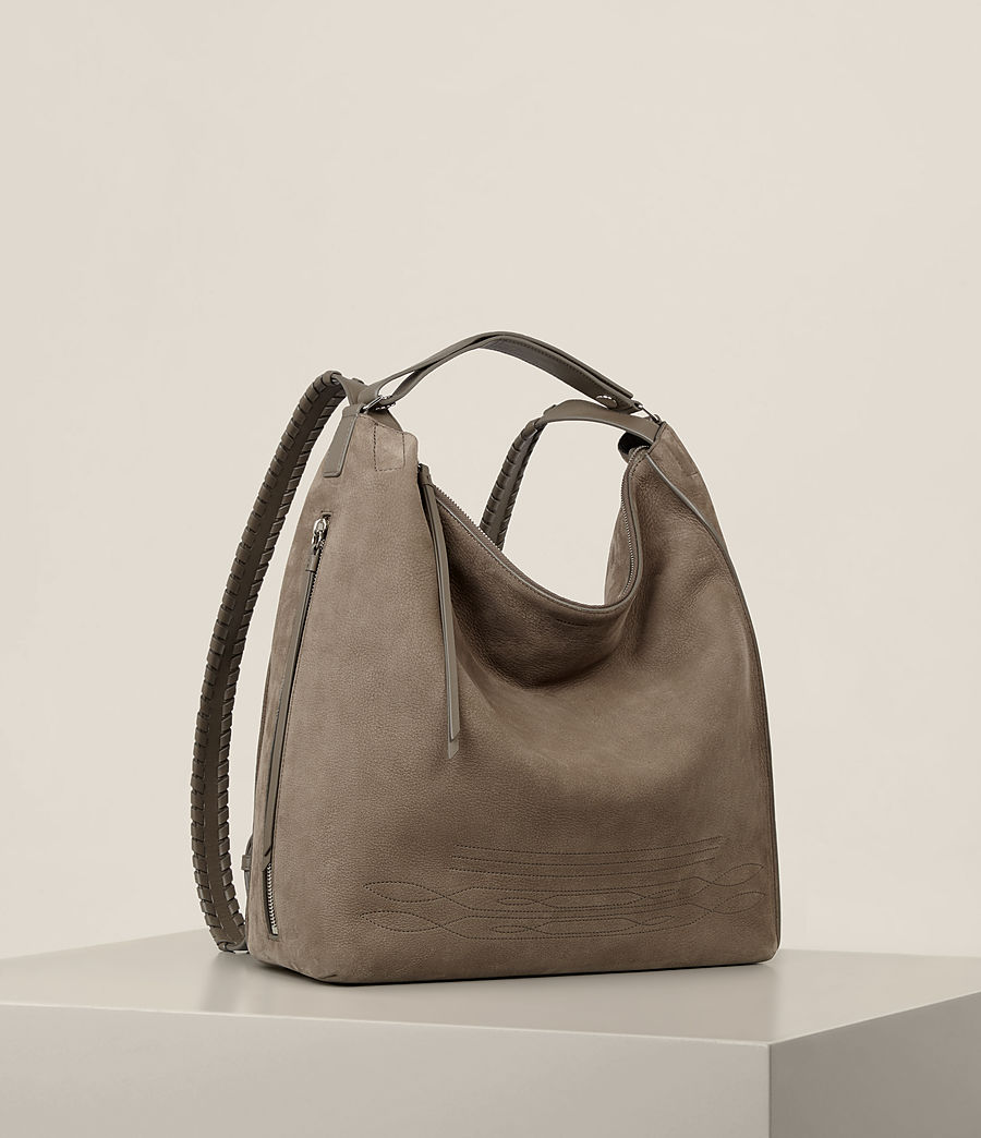 Women's Cooper Leather Backpack (ash_grey) - Image 7