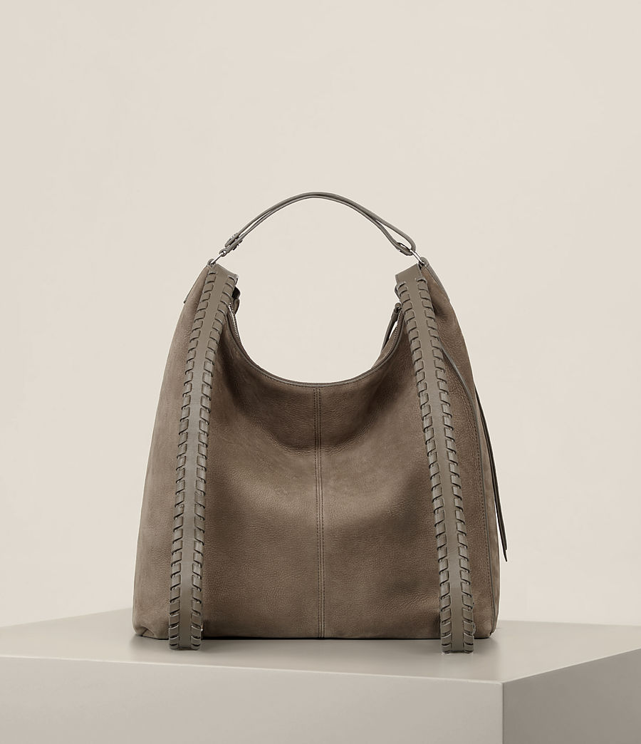 Women's Cooper Leather Backpack (ash_grey) - Image 9