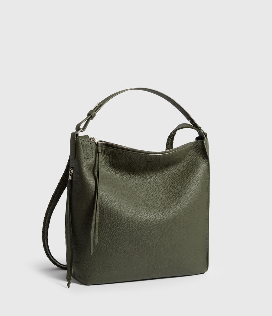 Womens Kita Small Leather Backpack (khaki_green) - Image 3