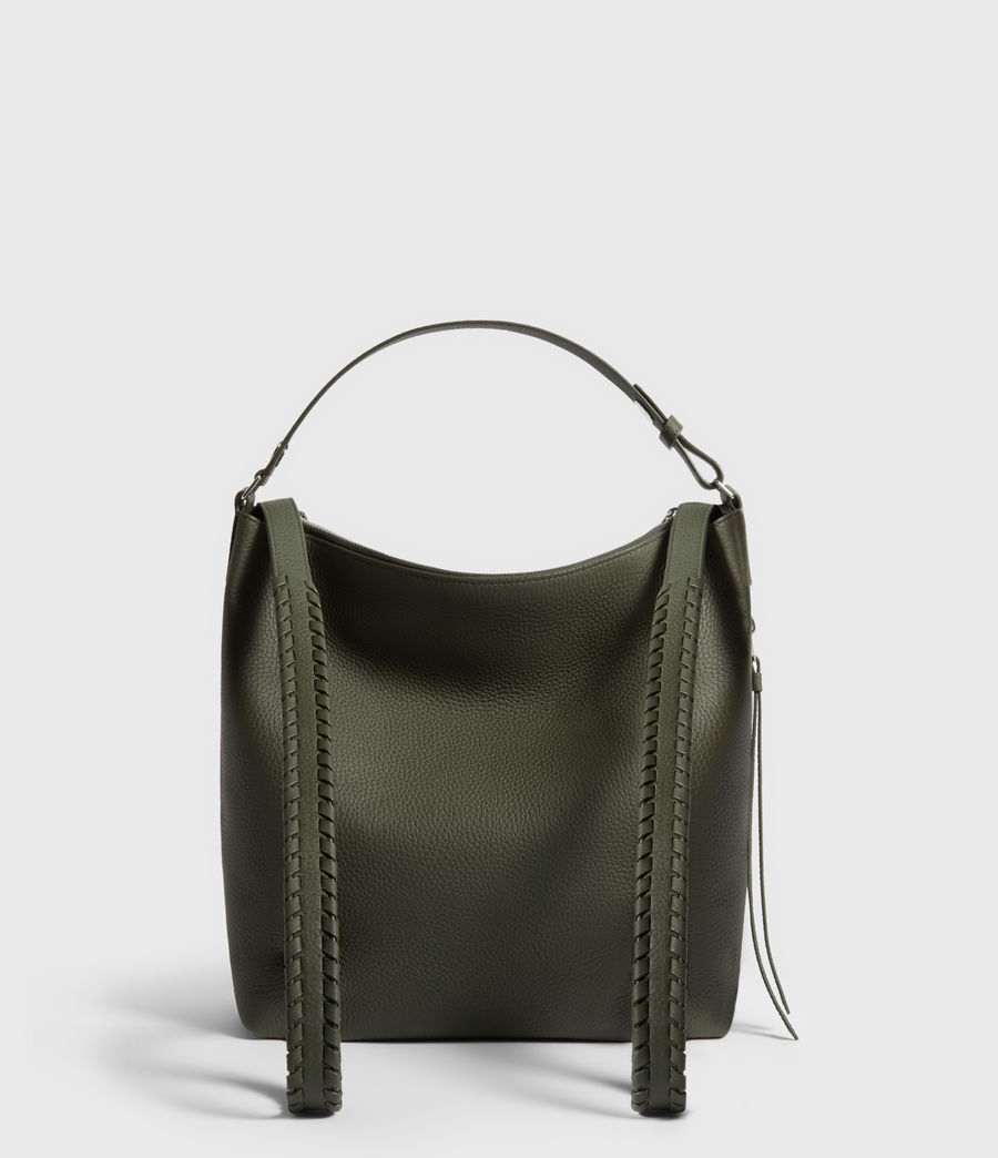 Womens Kita Small Leather Backpack (khaki_green) - Image 7