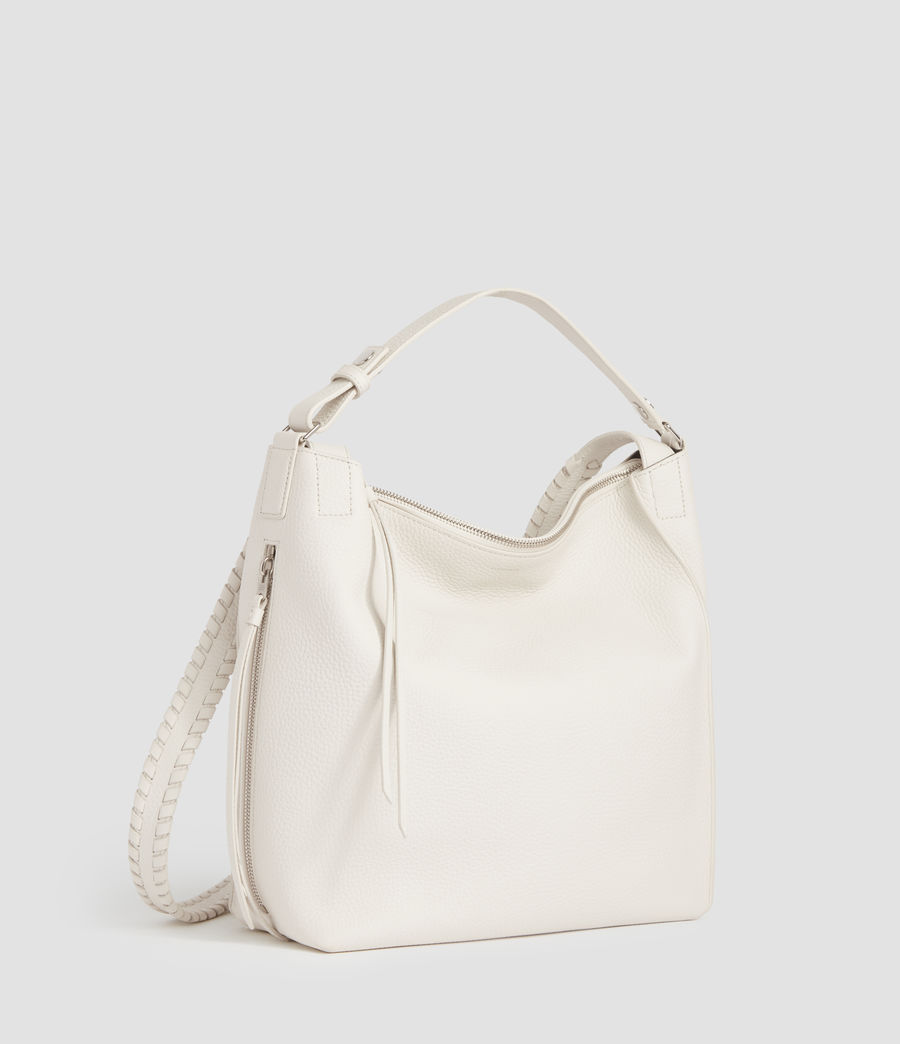 Womens Kita Small Leather Backpack (chalk_white) - Image 1