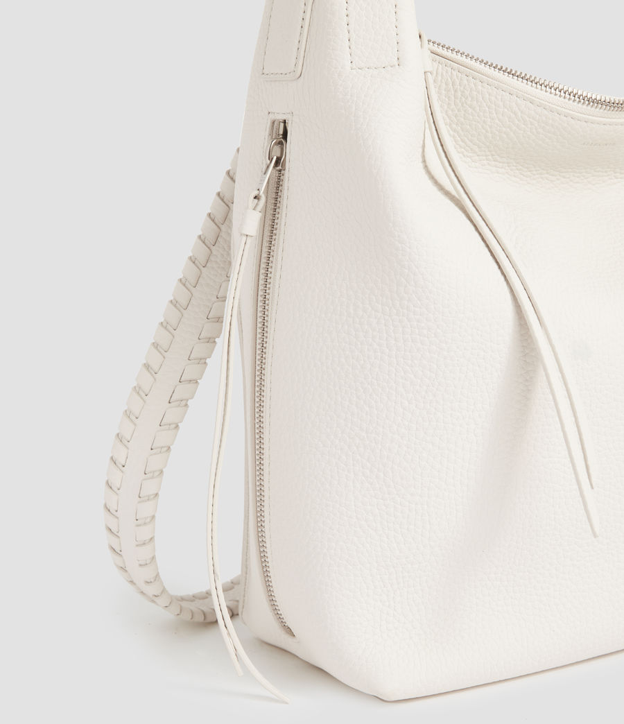 Womens Kita Small Leather Backpack (chalk_white) - Image 4