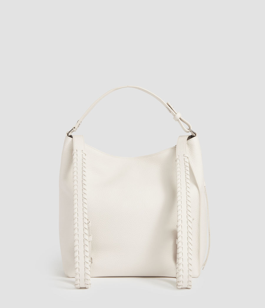 Womens Kita Small Leather Backpack (chalk_white) - Image 5