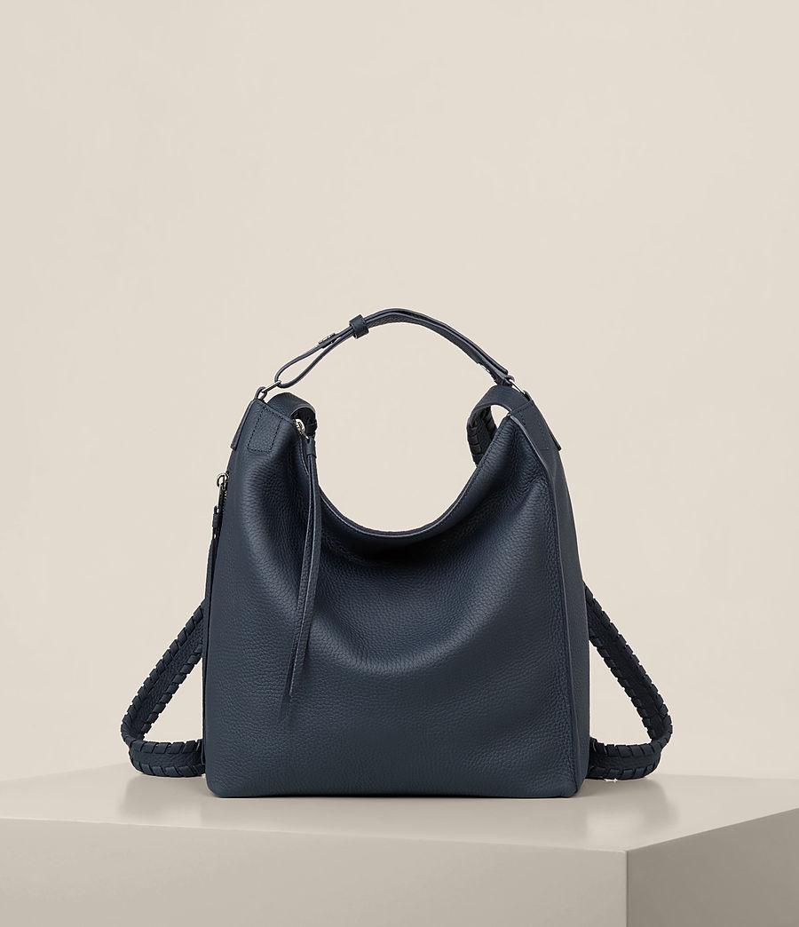 Womens Kita Small Leather Backpack (marine_blue) - Image 1