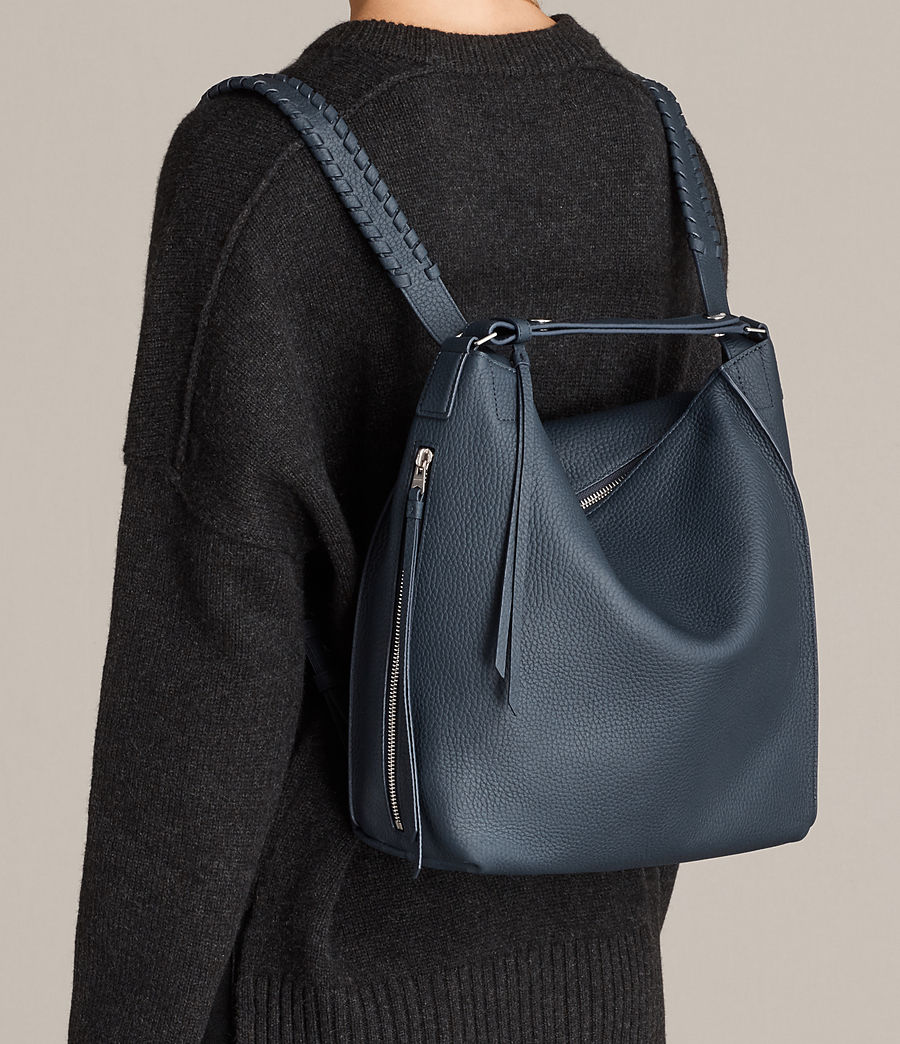 Women's Kita Small Leather Backpack (marine_blue) - Image 2