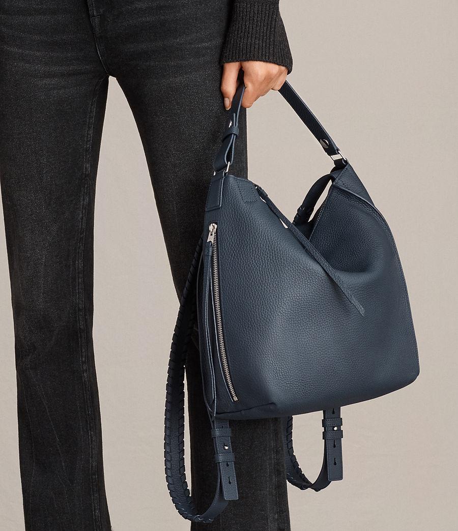 Women's Kita Small Leather Backpack (marine_blue) - Image 3