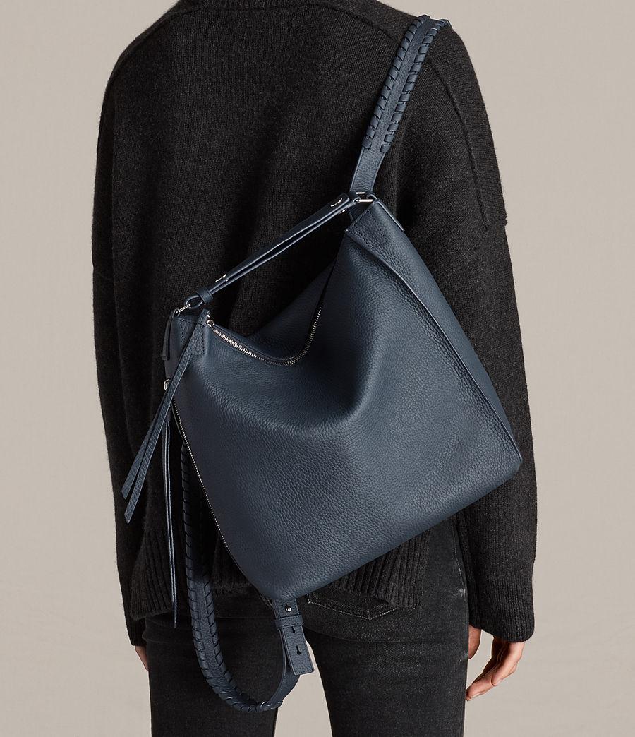 Women's Kita Small Leather Backpack (marine_blue) - Image 4