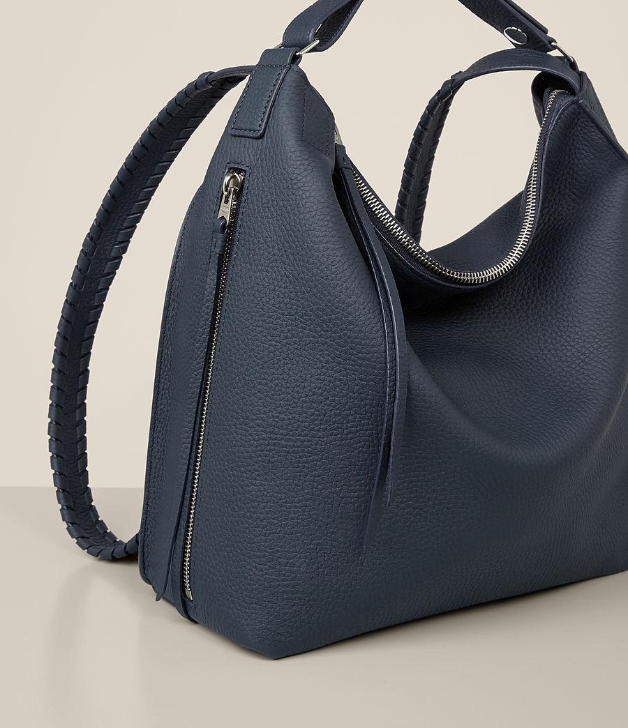 Women's Kita Small Leather Backpack (marine_blue) - Image 5