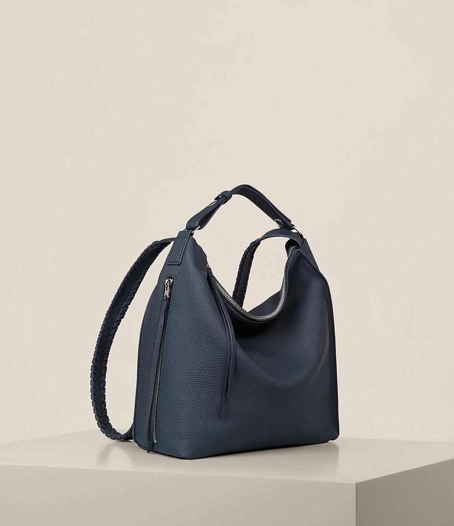 Womens Kita Small Leather Backpack (marine_blue) - Image 7