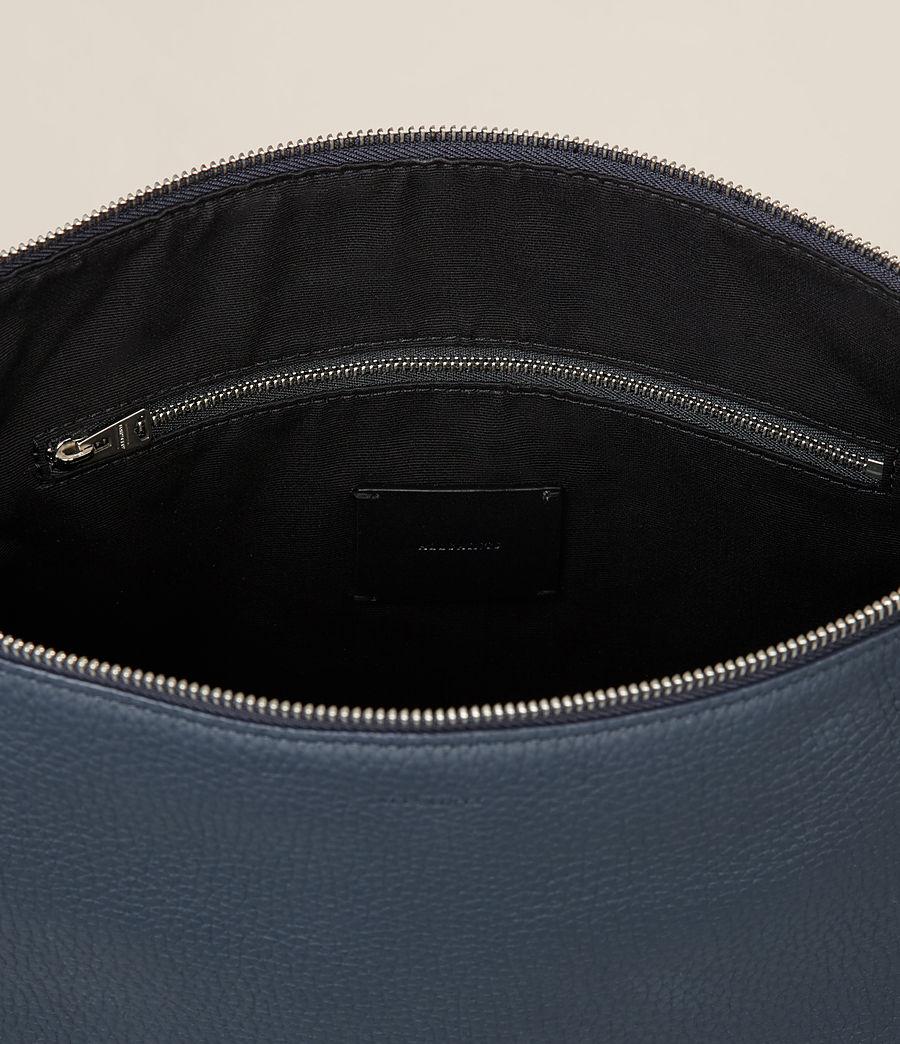Womens Kita Small Leather Backpack (marine_blue) - Image 8