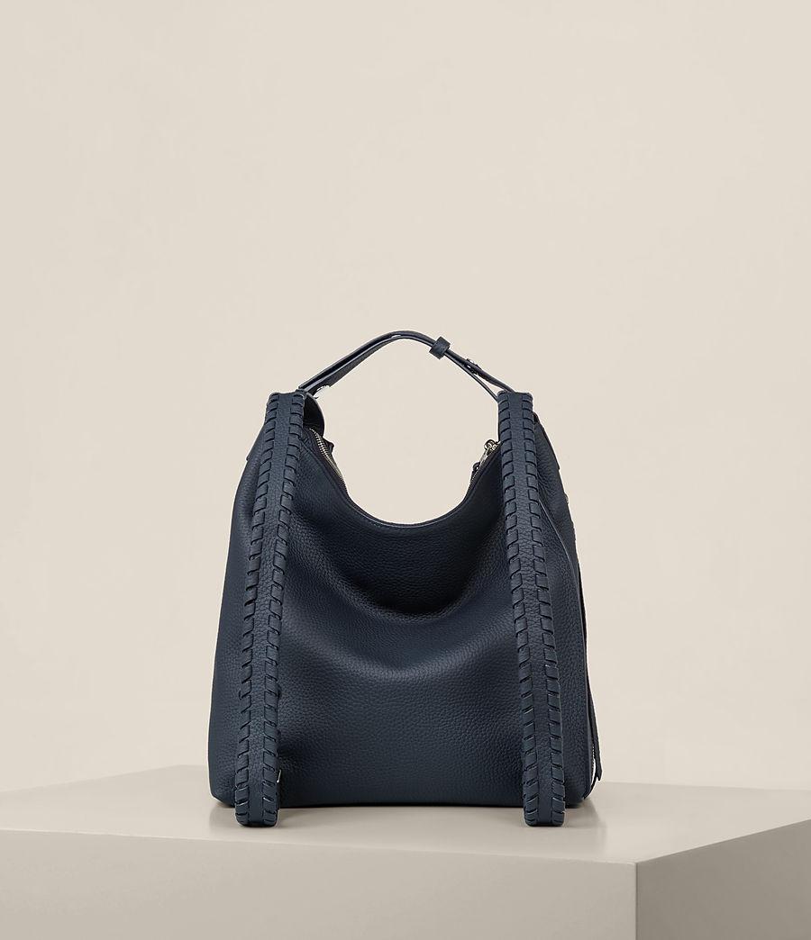 Womens Kita Small Leather Backpack (marine_blue) - Image 9