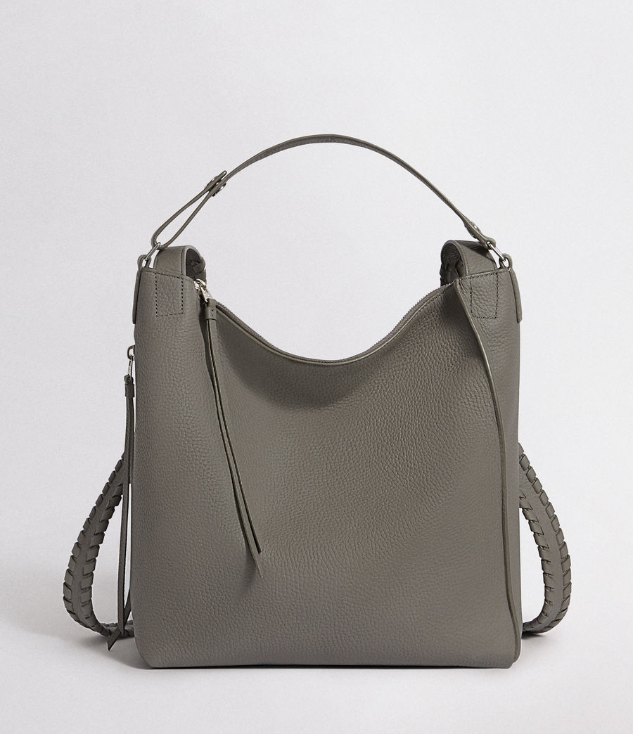 Womens Kita Leather Small Backpack (storm_grey) - Image 1