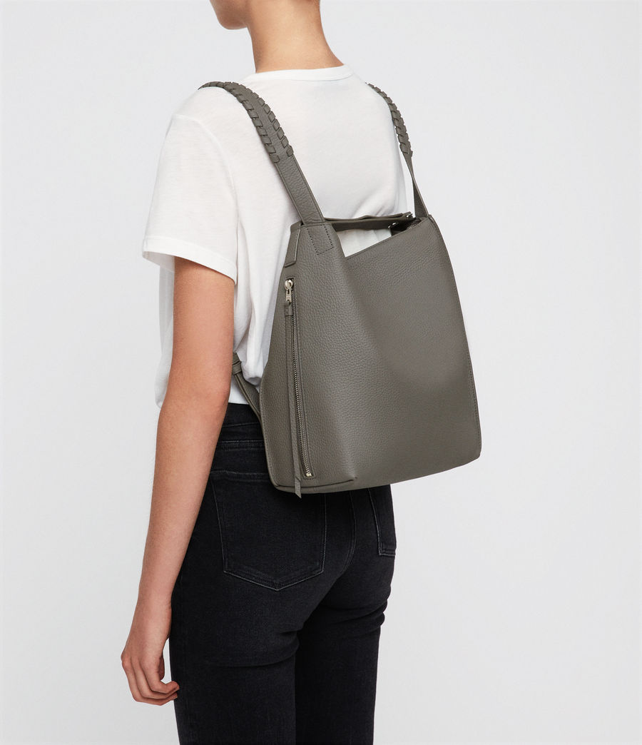 Womens Kita Leather Small Backpack (storm_grey) - Image 2