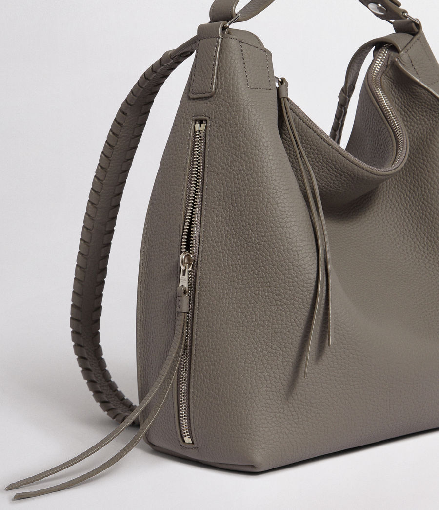 Womens Kita Leather Small Backpack (storm_grey) - Image 4
