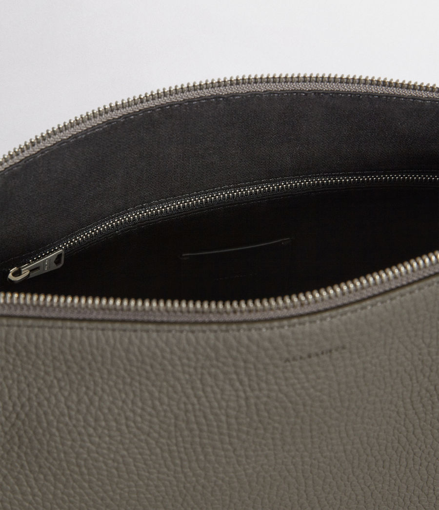 Women's Kita Leather Small Backpack (storm_grey) - Image 5