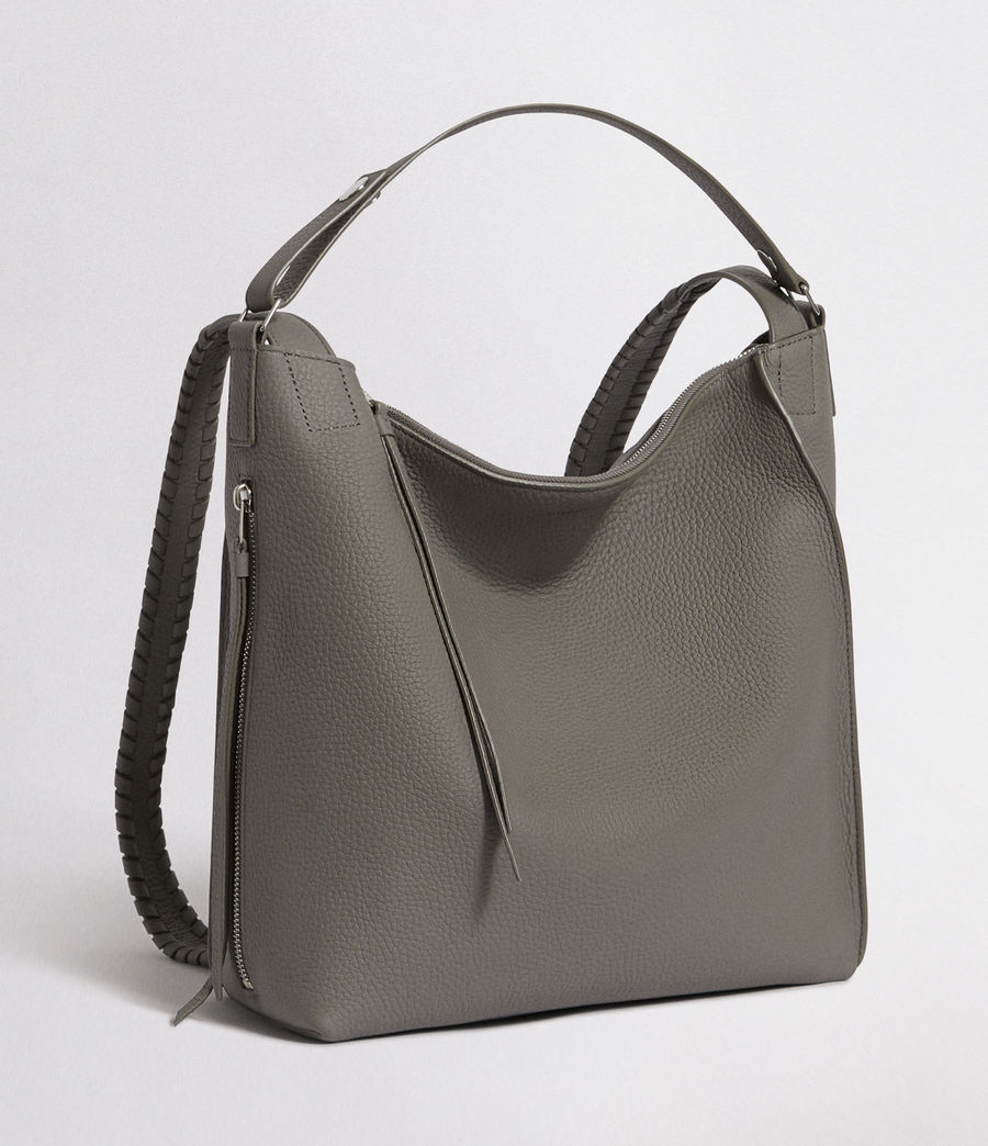 Women's Kita Leather Small Backpack (storm_grey) - Image 6