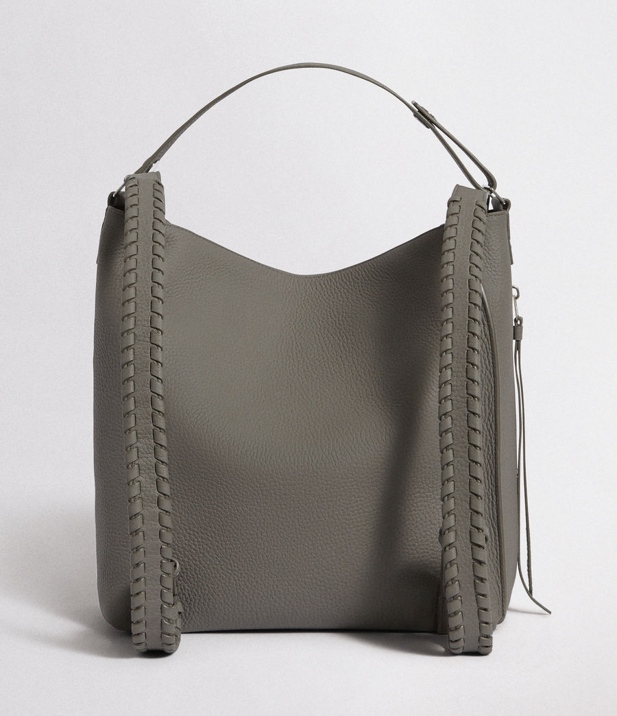 Womens Kita Leather Small Backpack (storm_grey) - Image 7