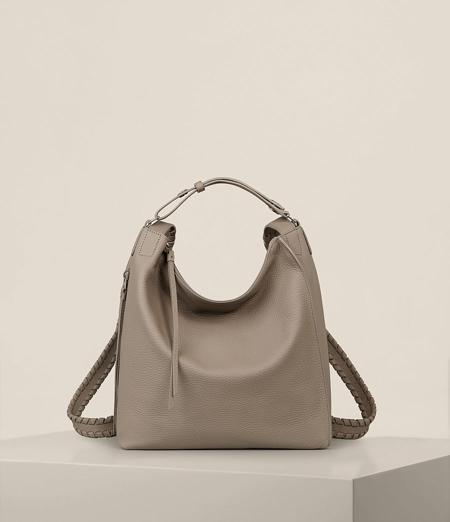 Womens Kita Leather Small Backpack (taupe_grey) - Image 1