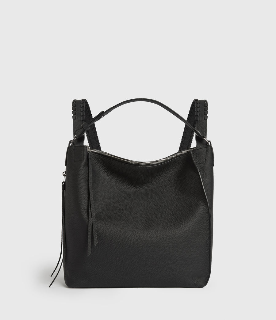 Women's Kita Small Leather Backpack (black) - Image 1