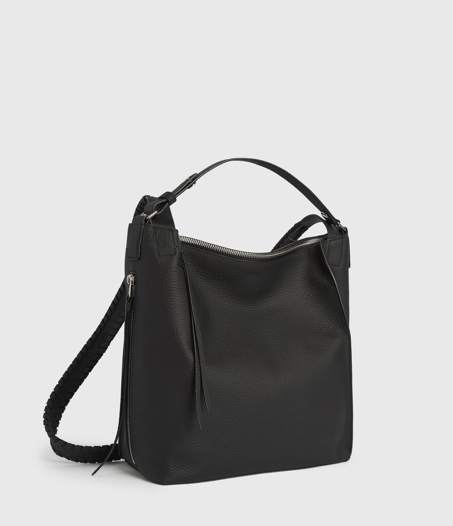 Women's Kita Small Leather Backpack (black) - Image 4
