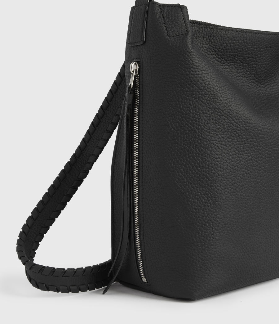 Women's Kita Small Leather Backpack (black) - Image 5