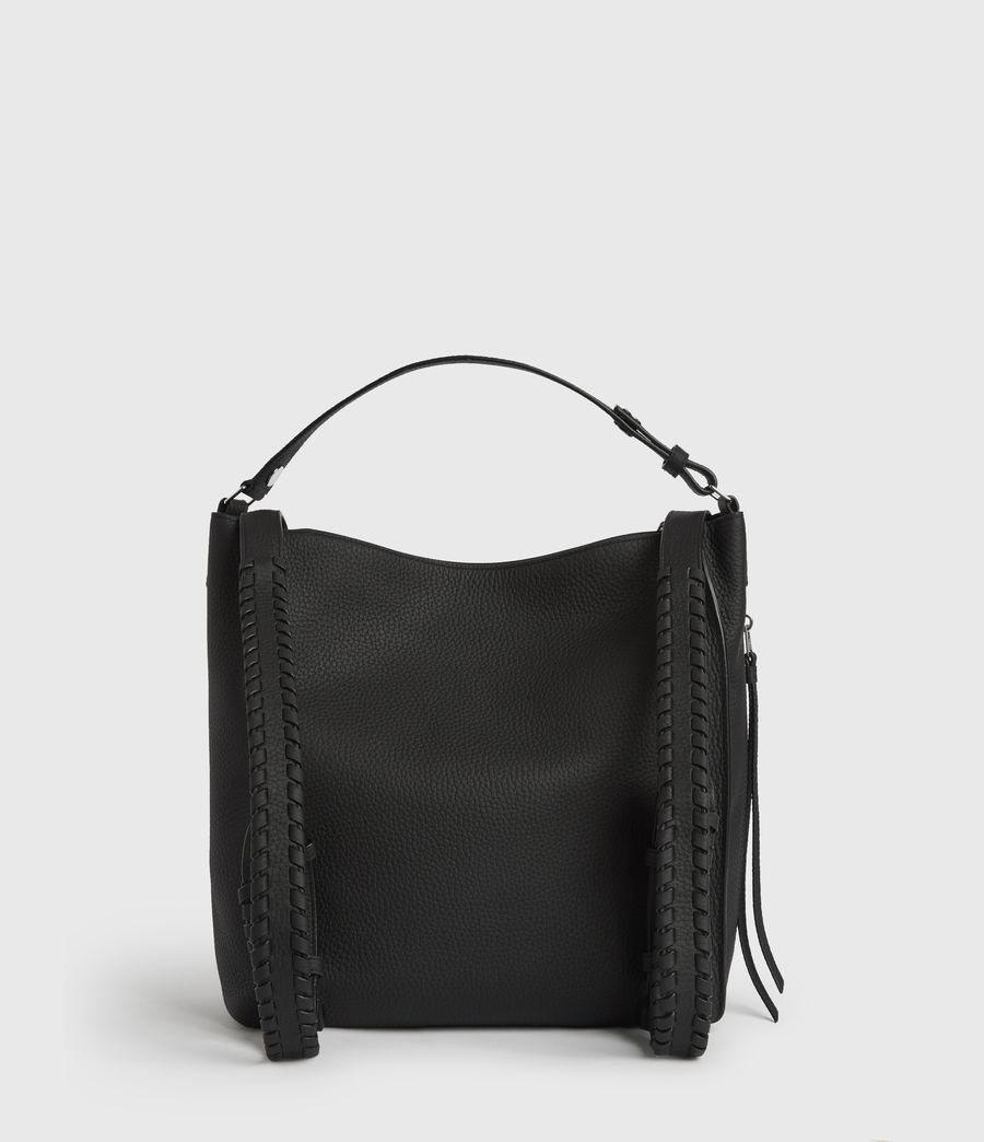 Women's Kita Small Leather Backpack (black) - Image 7