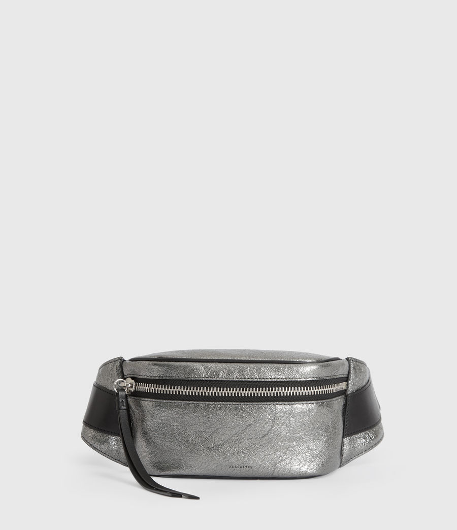 Womens Miki Lea Leather Bumbag (gunsmoke_grey) - Image 1