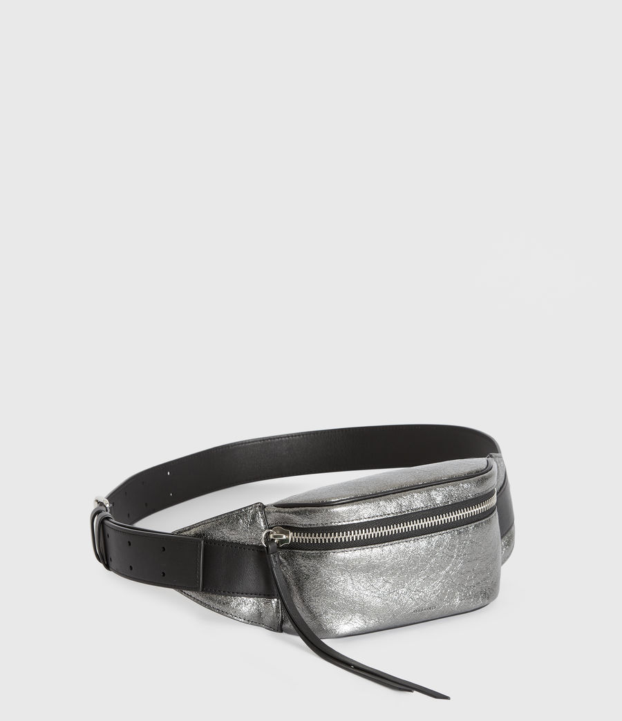 Womens Miki Lea Leather Bumbag (gunsmoke_grey) - Image 3