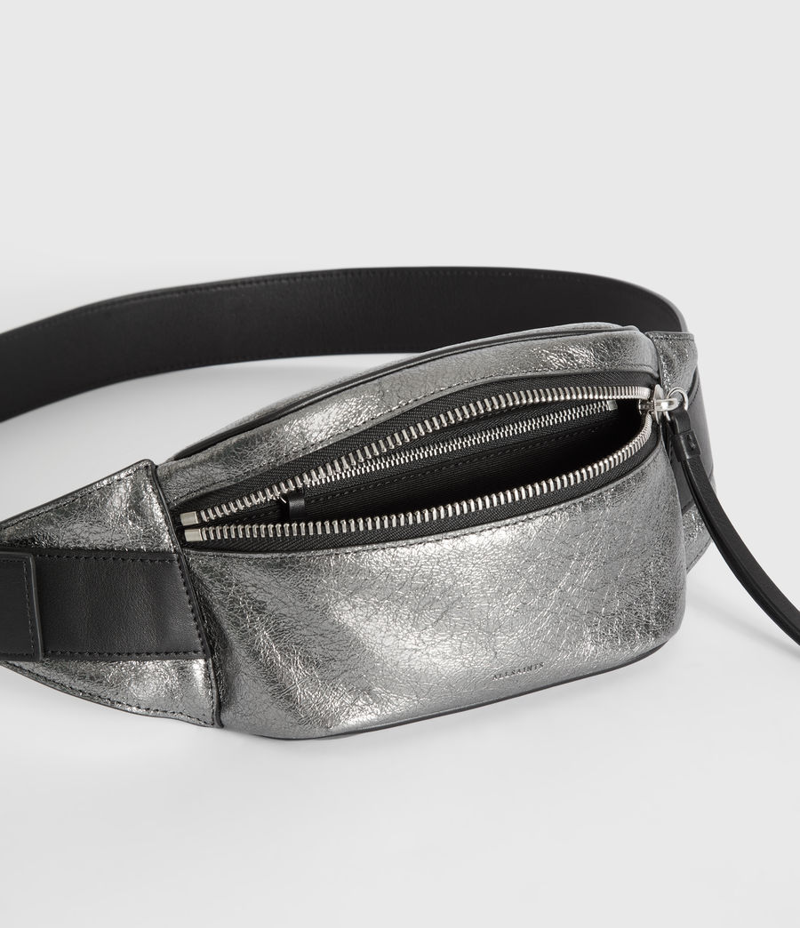Womens Miki Lea Leather Bumbag (gunsmoke_grey) - Image 4