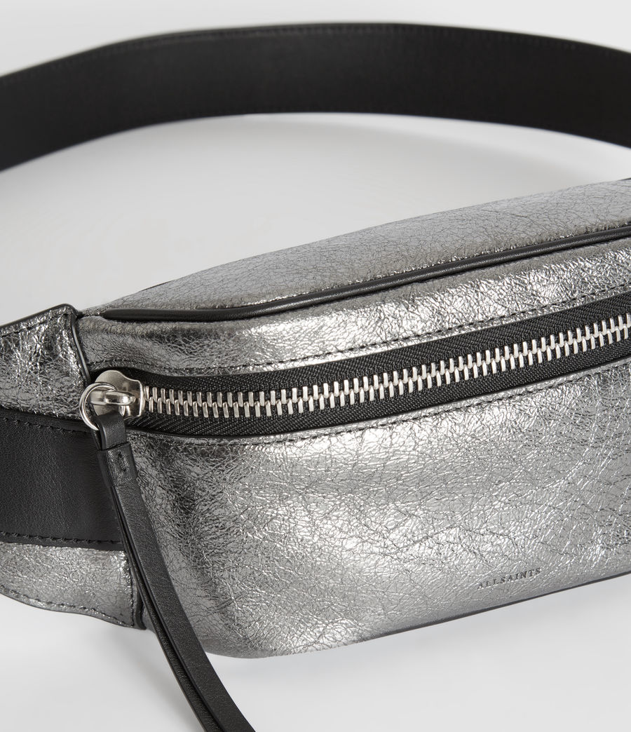 Womens Miki Lea Leather Bumbag (gunsmoke_grey) - Image 5