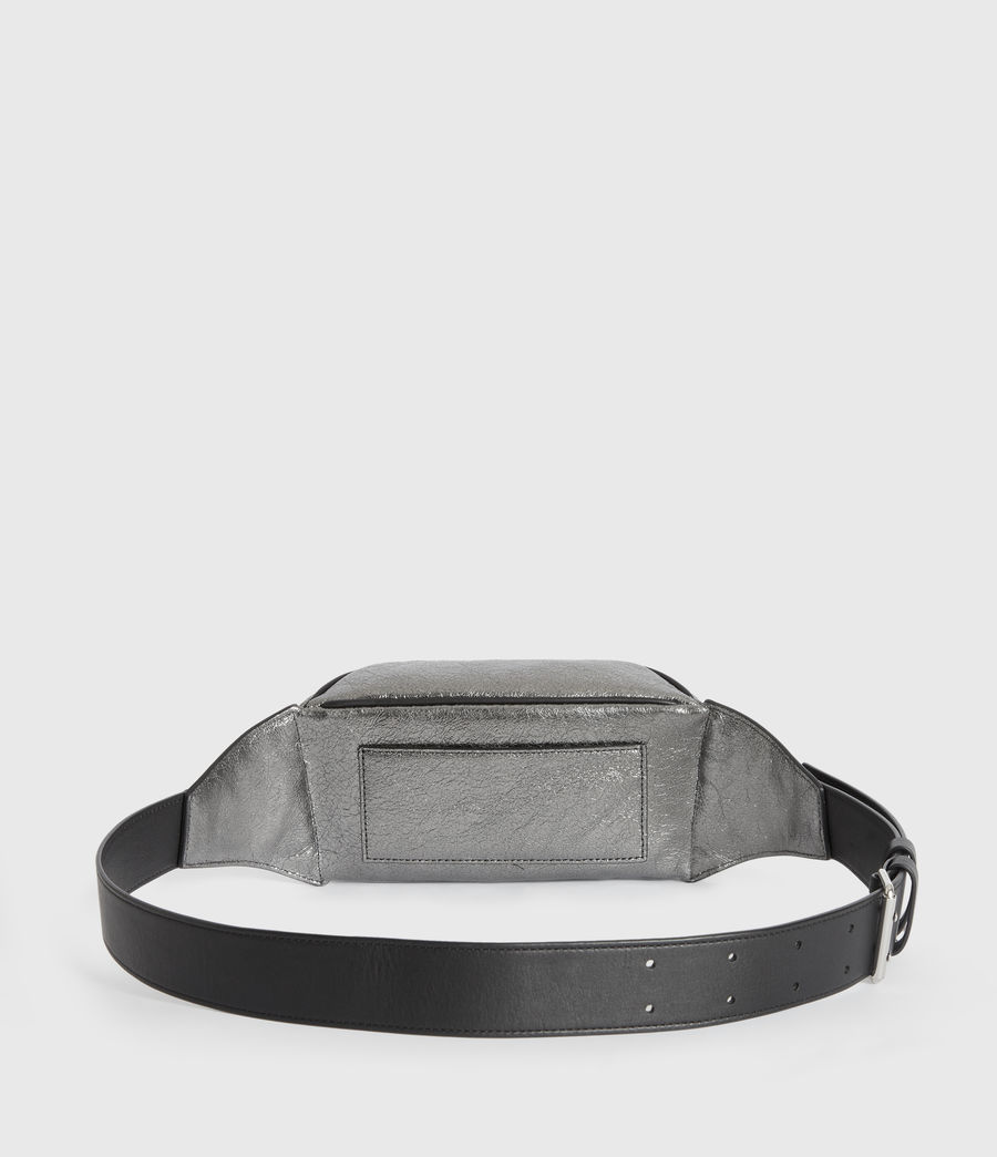 Womens Miki Lea Leather Bumbag (gunsmoke_grey) - Image 6