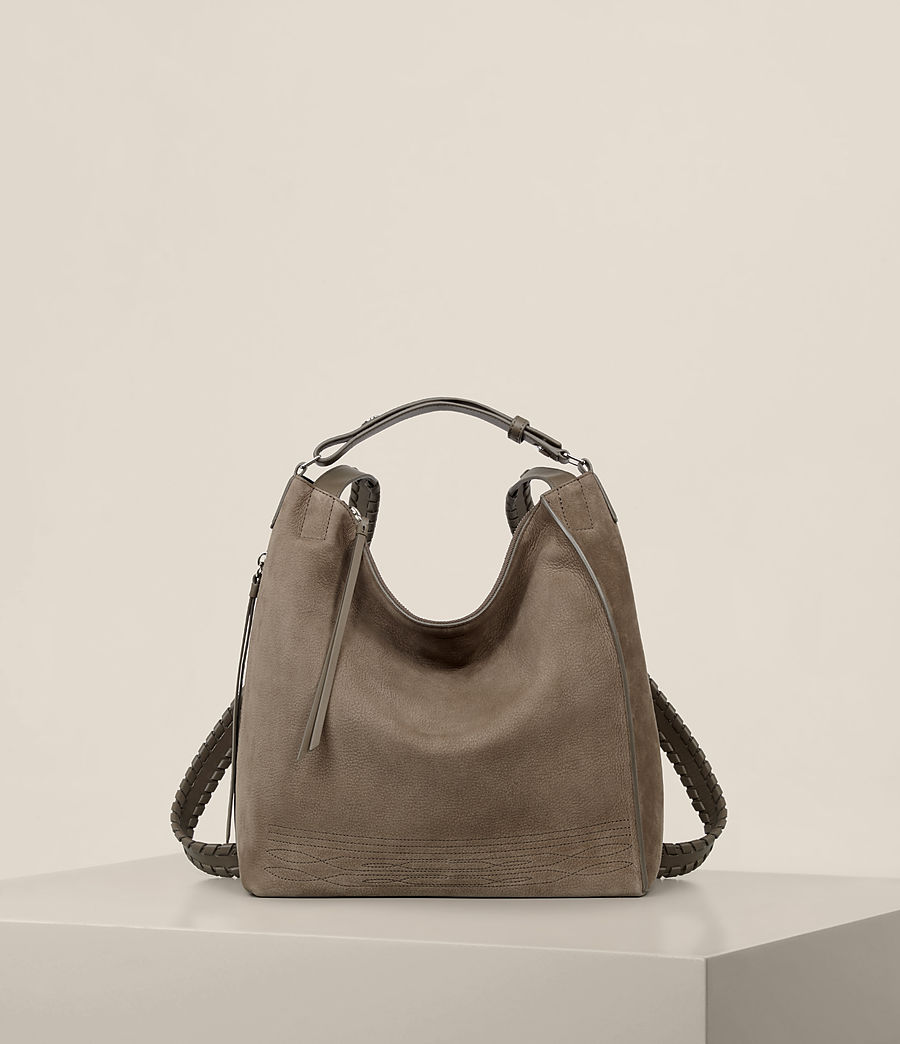 Womens Cooper Small Leather Backpack (ash_grey) - Image 1