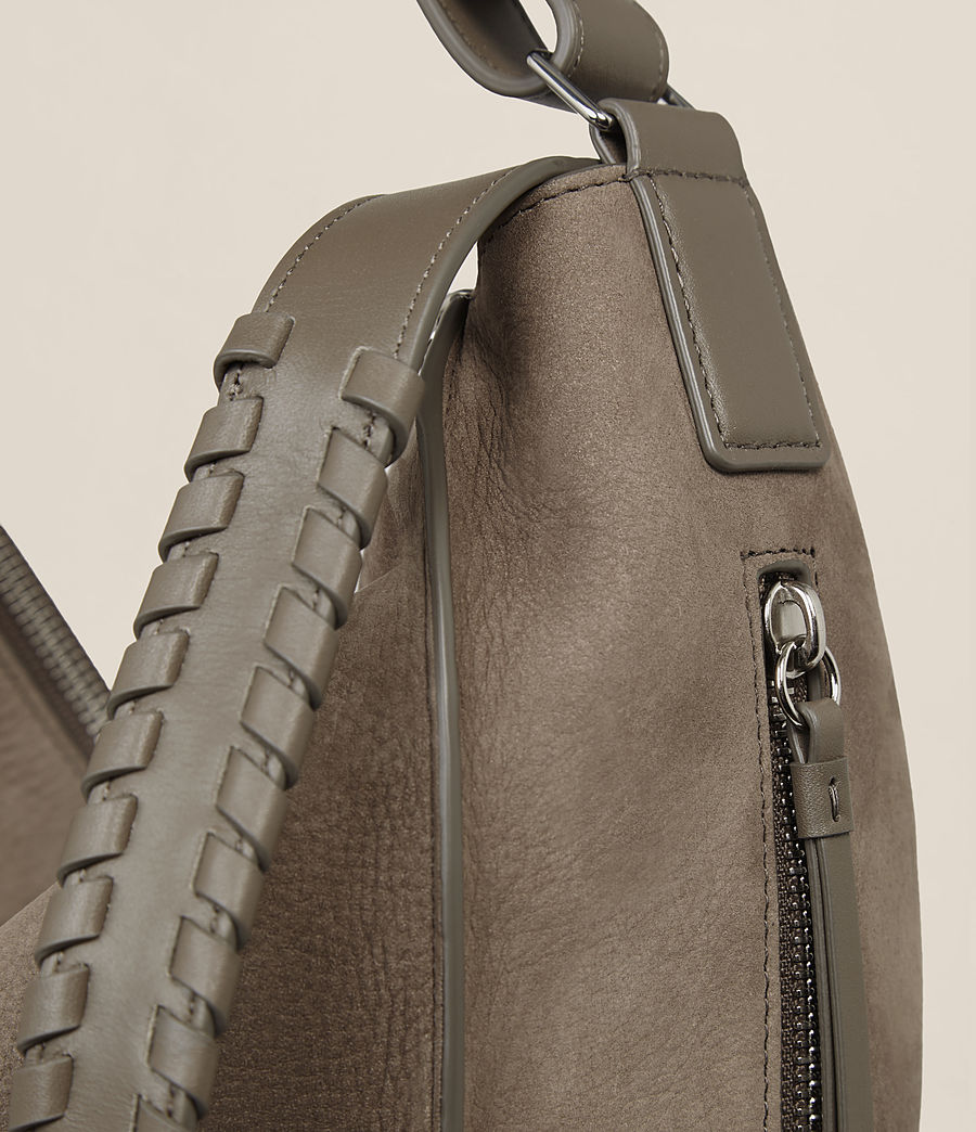 Womens Cooper Small Leather Backpack (ash_grey) - Image 4