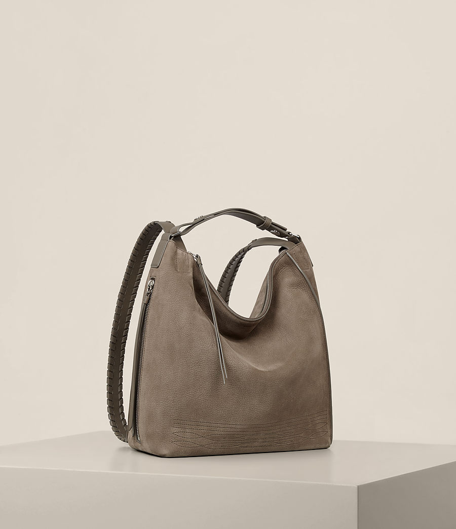 Womens Cooper Small Leather Backpack (ash_grey) - Image 6