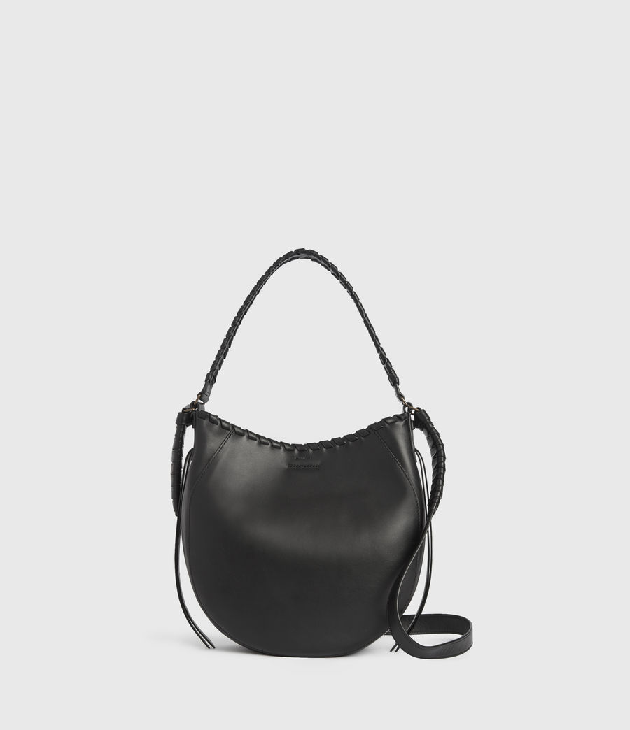 Women's Courtney Leather Hobo Bag (black) - Image 1