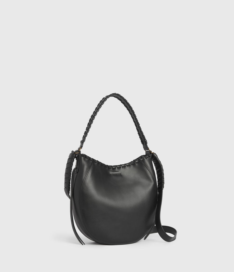 Womens Courtney Leather Hobo Bag (black) - Image 3