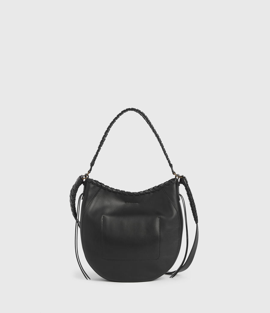 Womens Courtney Leather Hobo Bag (black) - Image 7