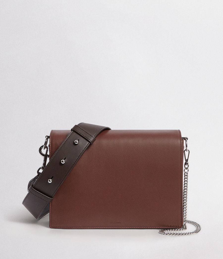 Mujer Zep Leather Box Bag (port_burgdy_oxbloo) - Image 1