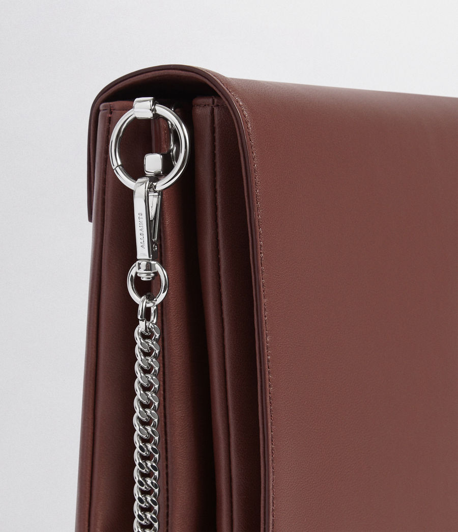 Mujer Zep Leather Box Bag (port_burgdy_oxbloo) - Image 4