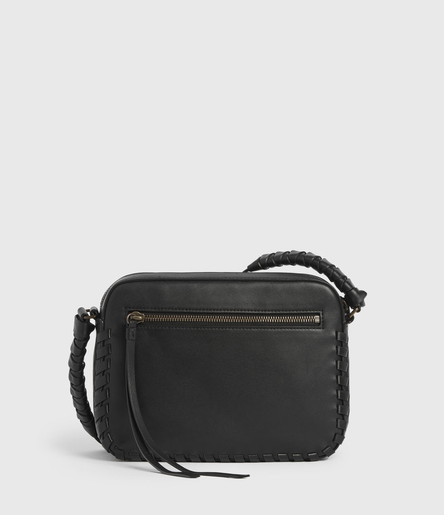 Womens Courtney Square Leather Crossbody Bag (black) - Image 7