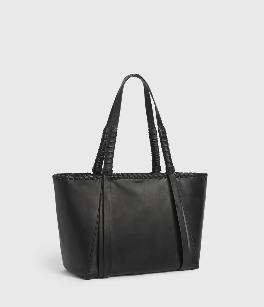 Womens Courtney Small East West Tote Bag (black) - Image 3