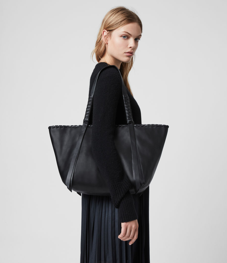 Womens Courtney Small East West Tote Bag (black) - Image 7