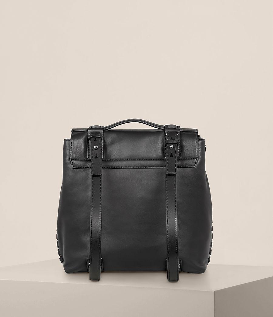 Womens Fin Leather Shoulder Backpack (black) - Image 8
