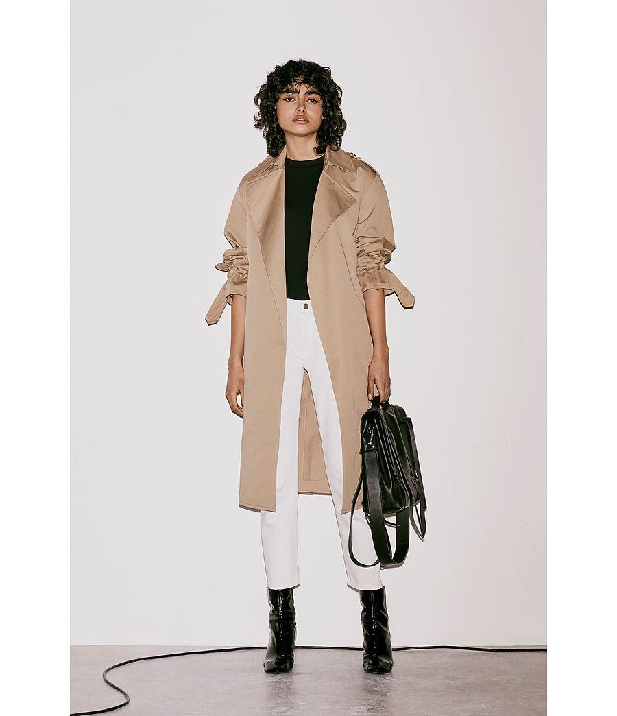 Womens Fin Leather Shoulder Backpack (black) - Image 9