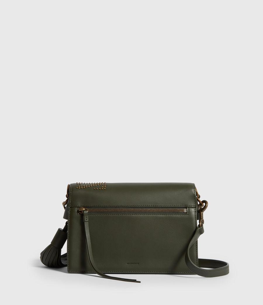 Damen Nina Stud Leather Crossbody Bag (khaki_green) - Image 6